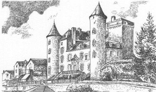 France aveyron recoules previnquieres chateau de vares - Chateaux dessin ...