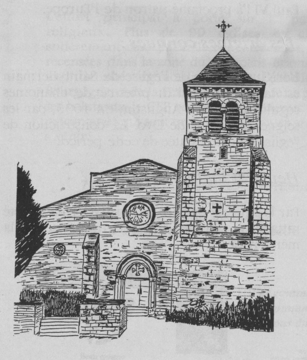 France saone et loire saint germain en brionnais eglise - Eglise dessin ...
