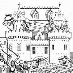Le si ge d 39 un chateau fort - Dessin d un chateau ...