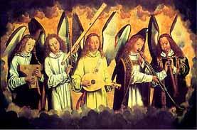 Anges jouant de la musique