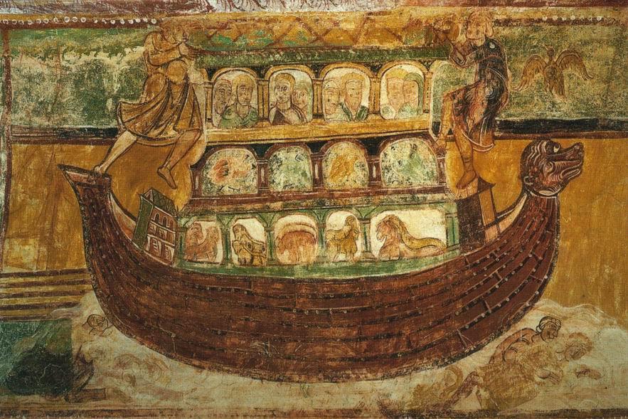 Fresques medievales for Tableau de l arche de noe